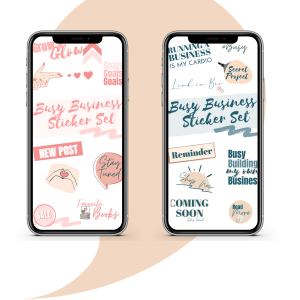 Busy Business Instagram Story Stickers