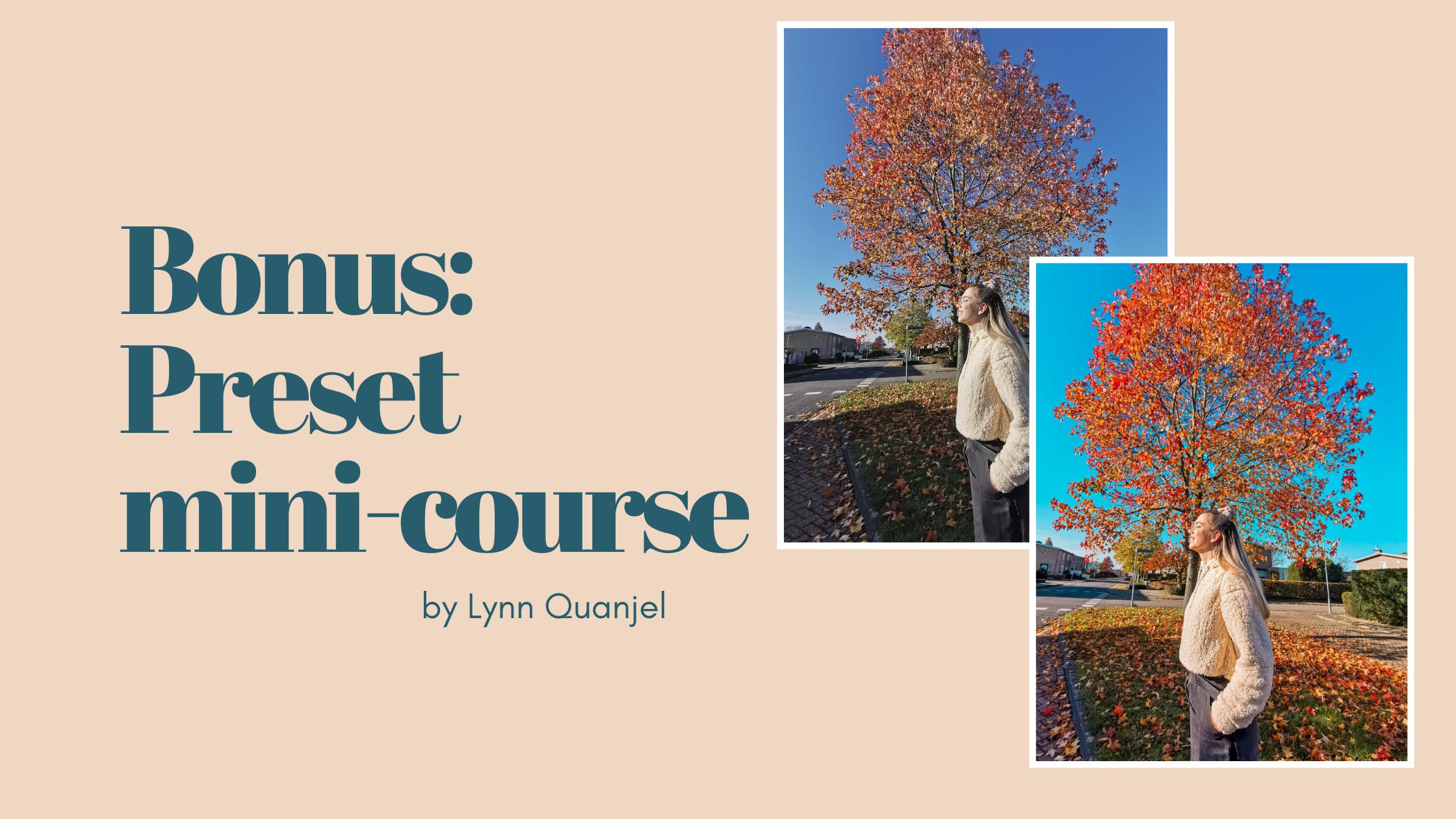 Bonus: Preset Mini Course