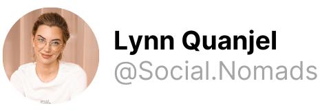 Lynn Quanjel at Social Nomads