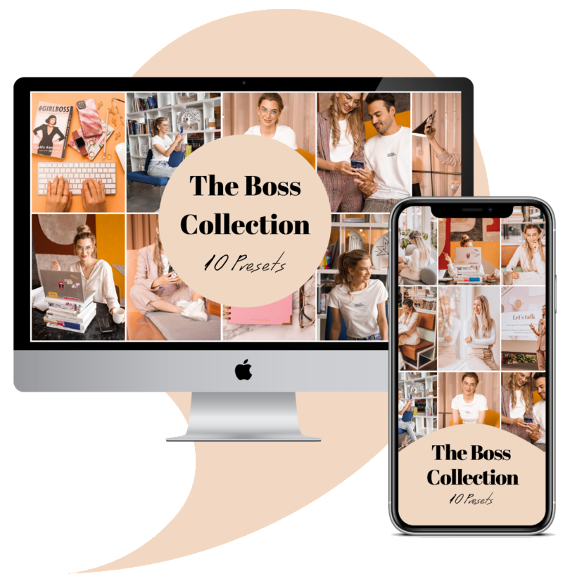The Boss Collection lightroom editing presets